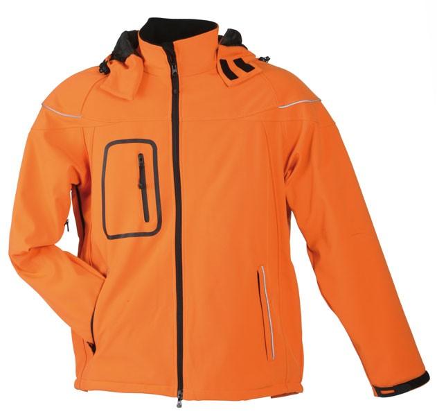 Pánská softshellová bunda JN 1000 výprodej oranžová