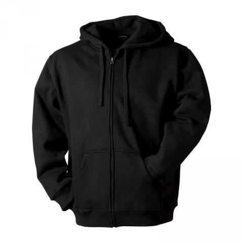 Mikina s kapucí dlouhý zip - pánská Lambeste 099 (černé mikiny vždy skladem)