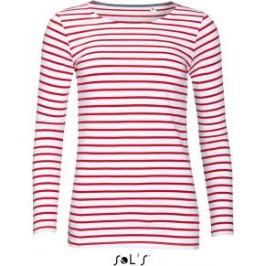 8ab5d1e0eb70 Dámské pruhované tričko s dlouhým rukávem MARINE SOLS