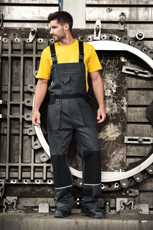 Pracovní pánské kalhoty s laclem W02 RIMECK