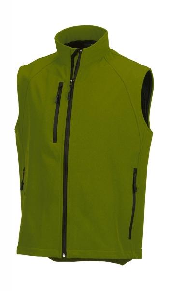 Výprodej pánská softshellová vesta v barvě cactus R141M f29764afc1